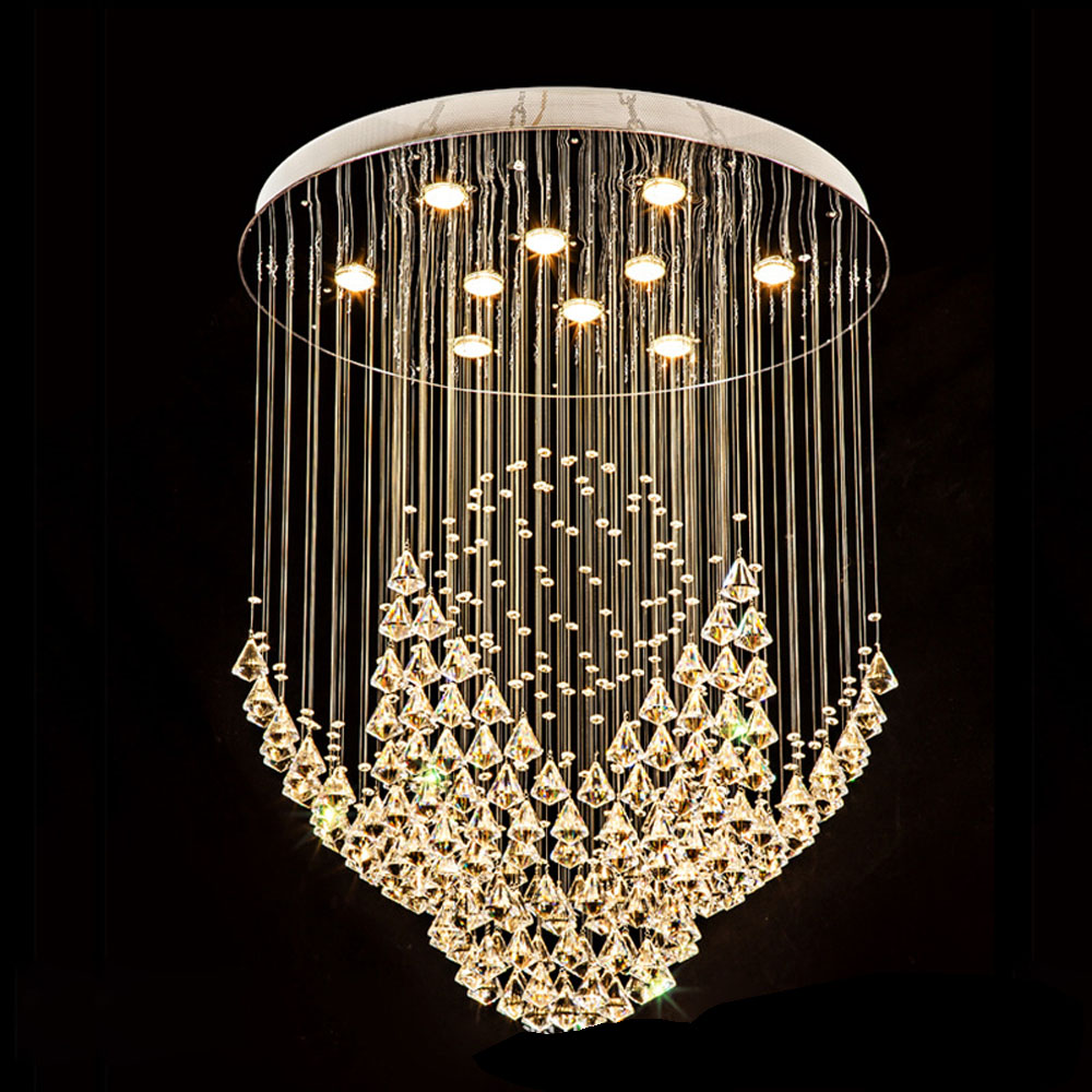 Diamond round led crystal lamp modern simple fashion bedroom study lighting creative starfish living room ceiling light lamps modern crystal lamp round shape led pendant light for bedroom living room lighting