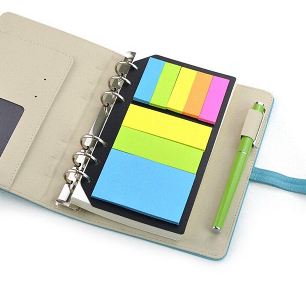Notebooks Office & School Supplies Haftnotizen Planer Schedule 6 Löcher Binder Dairy Memo Teiler Aufkleber Für Loseblattordner Spirale Notebook B5 A5 A6