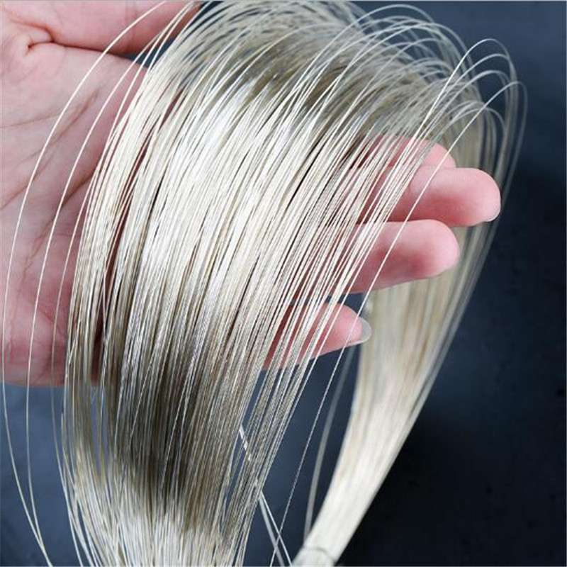 0.3/0.4/0.6/0.8/1/1.2/1.5mm 925 Sterling Silver Cord Pure Silver Wire Beading Stringing For DIY Jewelry Findings