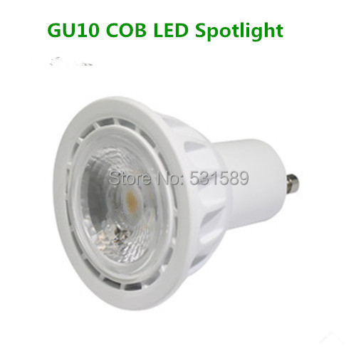 New! Hot selling COB spotlight 5W GU10 LED lighting high PF 500lm High lumen quality led factory Lamp bulb warm white DHL100PCS