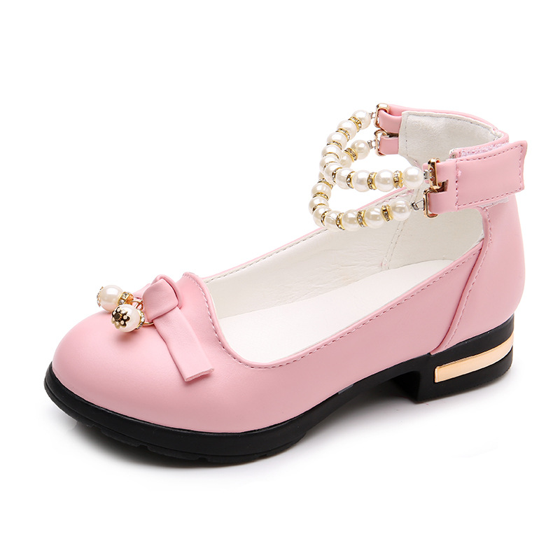 2018 Fashion School Shoes Girls Leather Shoes Pearl For Kids Girl Wedding  Shoes Childrens Princess Soft Bottom Flat Shoe Pink -in Leather Shoes from  Mother ... 713f9b9fa9d5