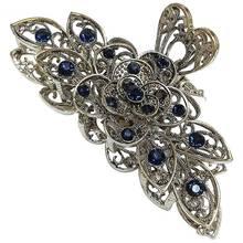 Clamps Hair-Accessories Flower-Hair Barette Crystal Rhinestone Clips Bride Fashion Retro