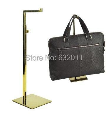5 pcs Titanium titanic gold metal Handbag holder Display Rack Women Bag mirror surface hook Display showing Stand