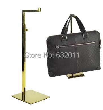5 pcs titanium titânica ouro gancho de metal titular bolsa display rack mulheres bag superfície do espelho exibição mostrando suporte