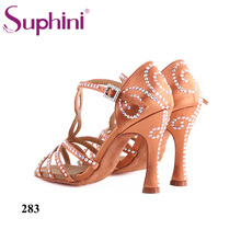 Free Shipping Suphini Latin Dance Shoes Available to customized Woman Nude Salsa Woman Dance Shoes