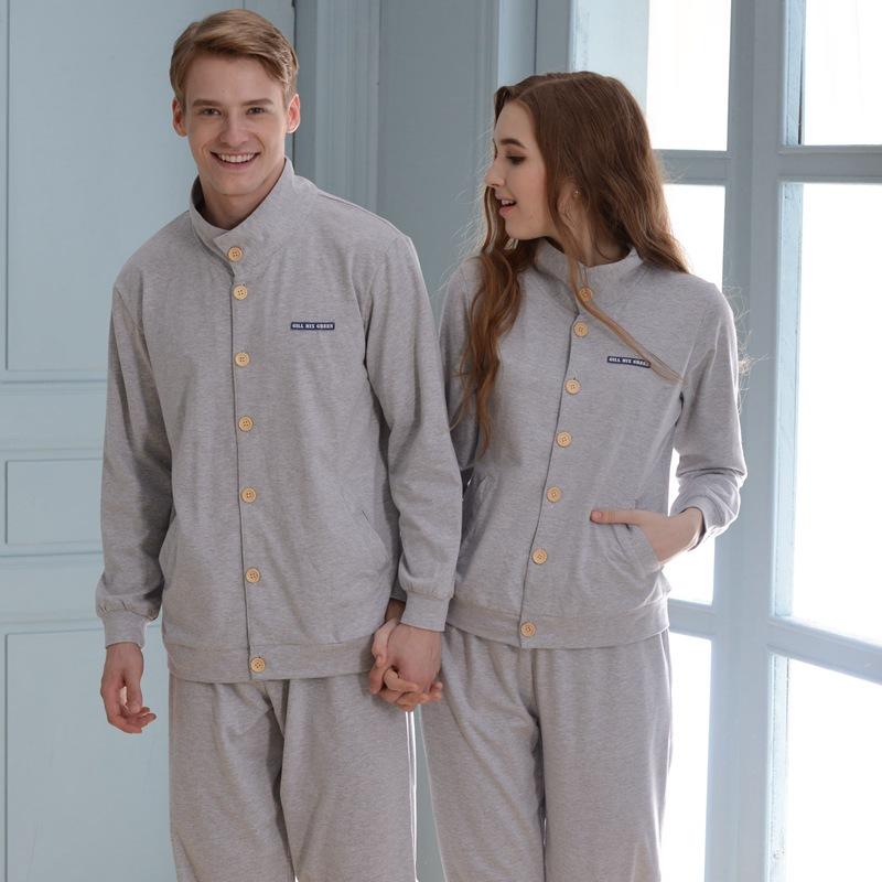 Winnter And Autumn 100% Cotton Casual Pure Cotton Long-sleeve Sleepwear Lounge Set