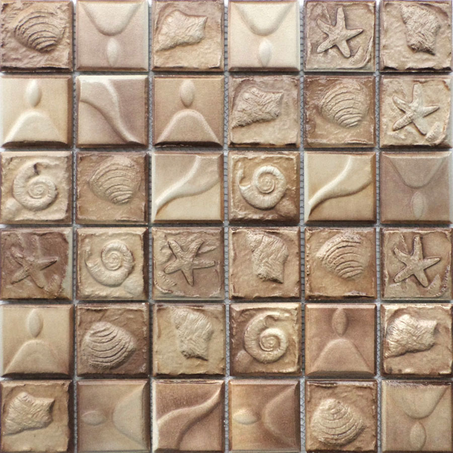 Ceramic mosaic antique style backdrop fossil shells dimensional ceramic mosaic antique style backdrop fossil shells dimensional relief tile puzzle fit specials on aliexpress alibaba group doublecrazyfo Images