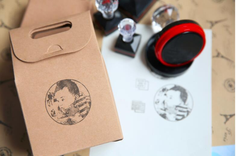 Custom Photosensitive Seal Stamp  Personalized Logo Self Inking Stamp Custom