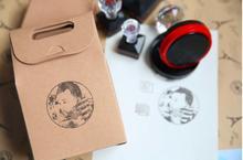 Sello personalizado con logotipo, accesorio con tinta, estampado, fotosensible