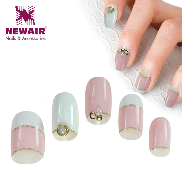 Hot Sale Cute Short False Nails Oval Full Cover Pink Artificial Press On Unha