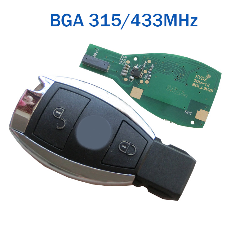 Smart Key 2 Buttons 315MHz 433MHz for Mercedes Benz Auto Remote Key Support NEC And BGA 2000+ Year new updating smart key for benz 3 button 433mhz 315mhz easy to create a new key for mecerdes good quality