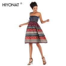 Hiyonat Elegant Designer Bohemian Tube Dress Women Summer Et