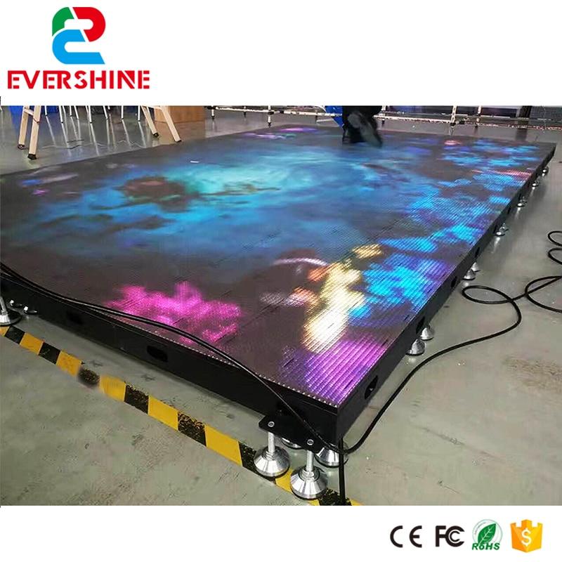 Shenzhen Factory Performance Show Video LED Dance Floor Display Rental Usage p6 fullcolor rental advertisingwifi led display floor standing digital signage