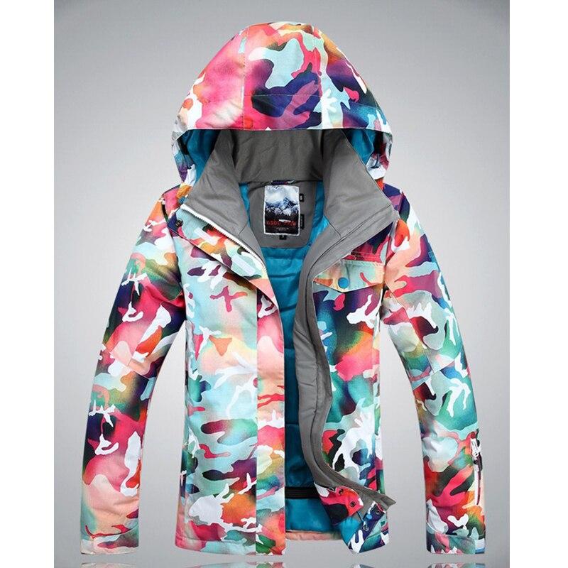 Livraison gratuite veste de ski veste de snowboard imperméable femmes combinaison de neige pour femmes veste alpinisme manteau chaud