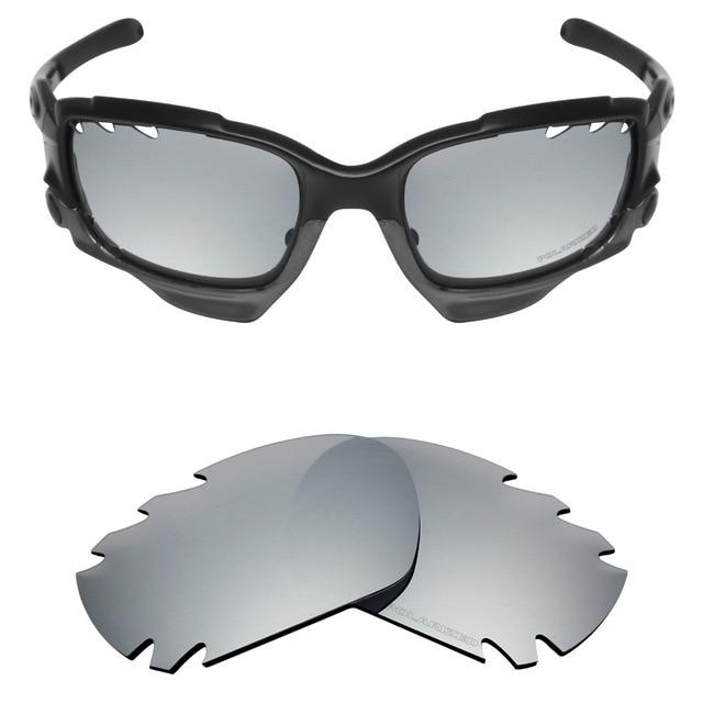 c3b1297bc3 Mryok+ POLARIZED Resist SeaWater Replacement Lenses for Oakley Jawbone  Vented Sunglasses Silver Titanium