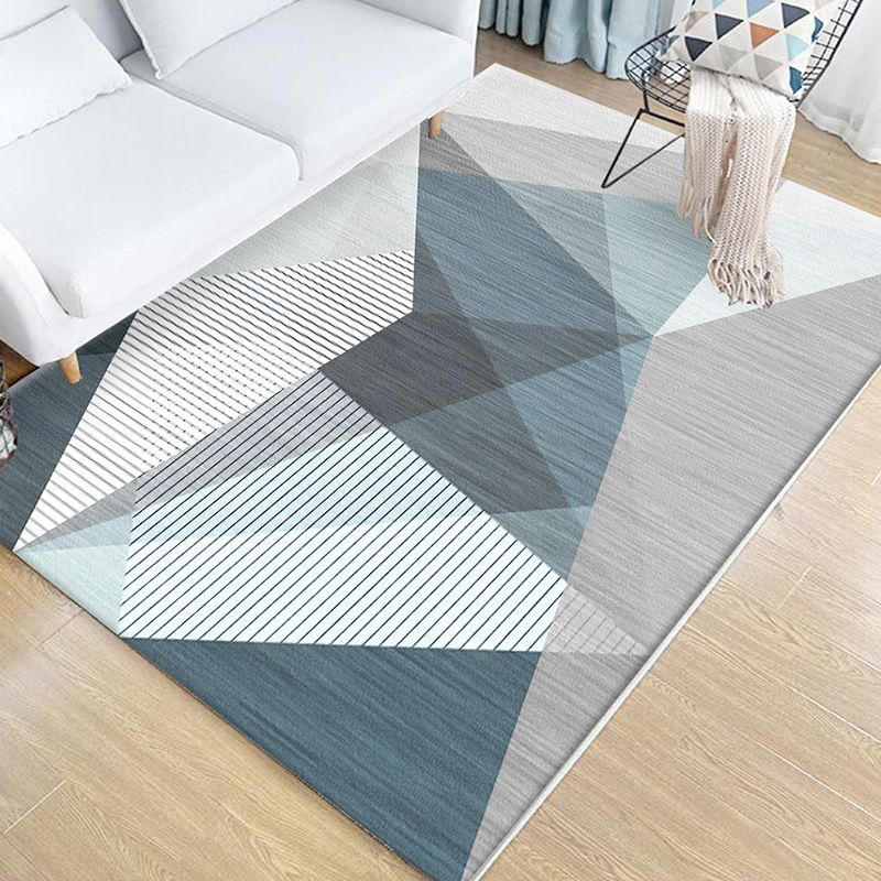 Nordic Geometric Living Room Carpet Soft Bedroom Floor Rug Home Decor Carpets Coffee Table Floor Mat