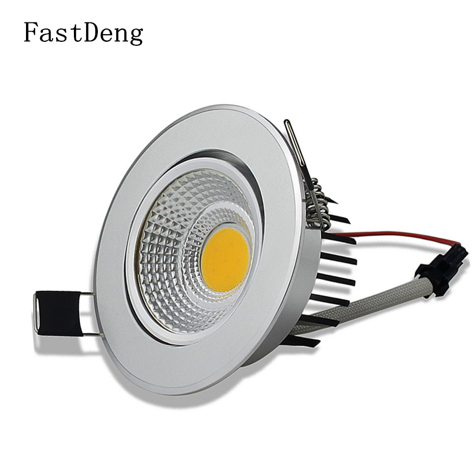 Spot Led Us 6 86 Led Spot Light Dimmable Spot Led Down Light Ceiling Recessed Lamp Dimmable High Luminance 1800lm 900lm Aluminum Glass In Downlights From
