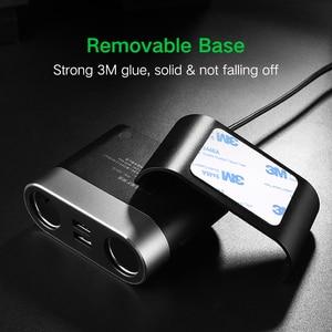 Image 5 - Ugreen çift USB araba şarjı desteği araba kaydedici evrensel cep telefonu araç şarj cihazı genişletici ile iphone şarj cihazı 6S Samsung