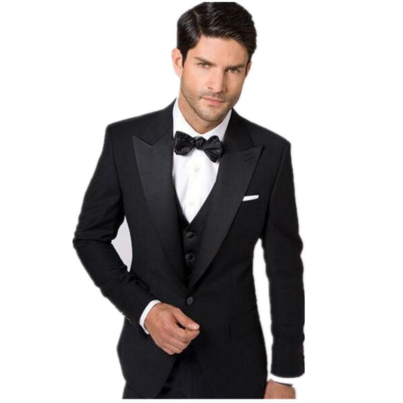 3b9add76a80ba US $56.54 20% OFF|New Custom Design Stylish Ball gown Formal Party Wear  Grooms Wedding Tuxedo Suit three piece(jacket+waistcoat +trousers-in Suits  ...
