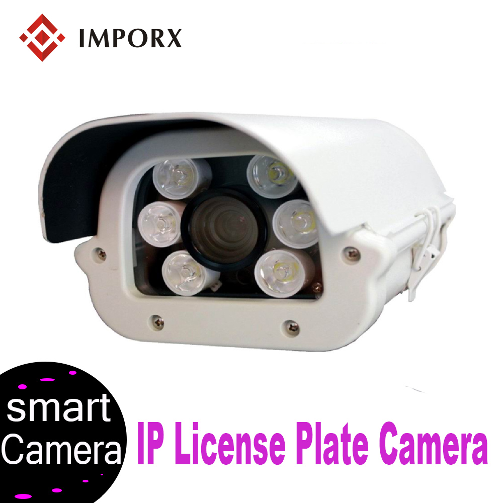 IMPORX ANPR(Automatic Number Plate Recognition) Camera HD 1080P IP66 Waterproof 6 22mm Lens LPR Camera for Highway & Parking Lot