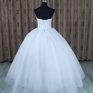 Image 3 - 2020 Bling Bling Shining Crystals Ball Gown Wedding Dress Custom made Bridal Gown Robe De Mariage  Vestido De Noiva