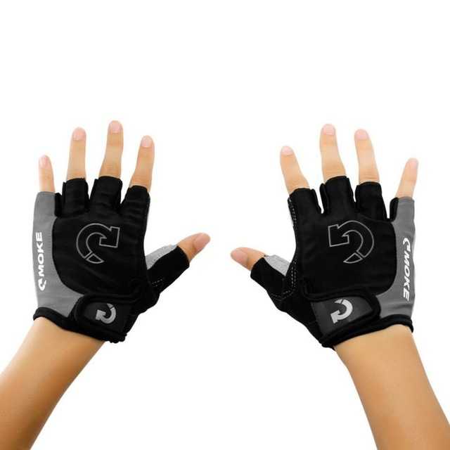 2018 1Pcs Men Women Half Finger Anti Slip Gel Pad Cycling Running Sports Motorcycle MTB Road Bike Gloves Running Bike Gloves W13