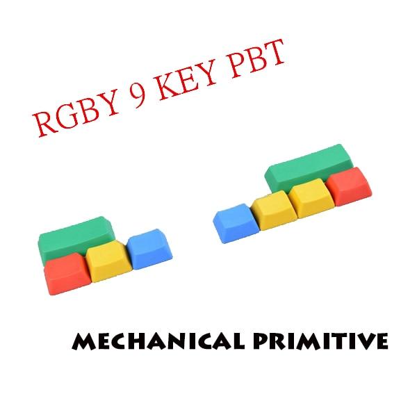 9 võtmega RGBY värviklahviga tühi ülemine / külg trükitud PBT - Arvuti välisseadmed - Foto 2