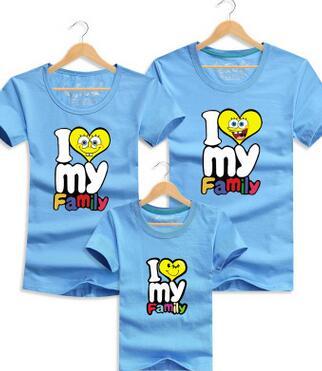 R$ 29 27 |Eu amo minha família engraçado camisa T pai mãe , filha , filho  camiseta família combinando roupas de verão roupa dos miúdos para meninos