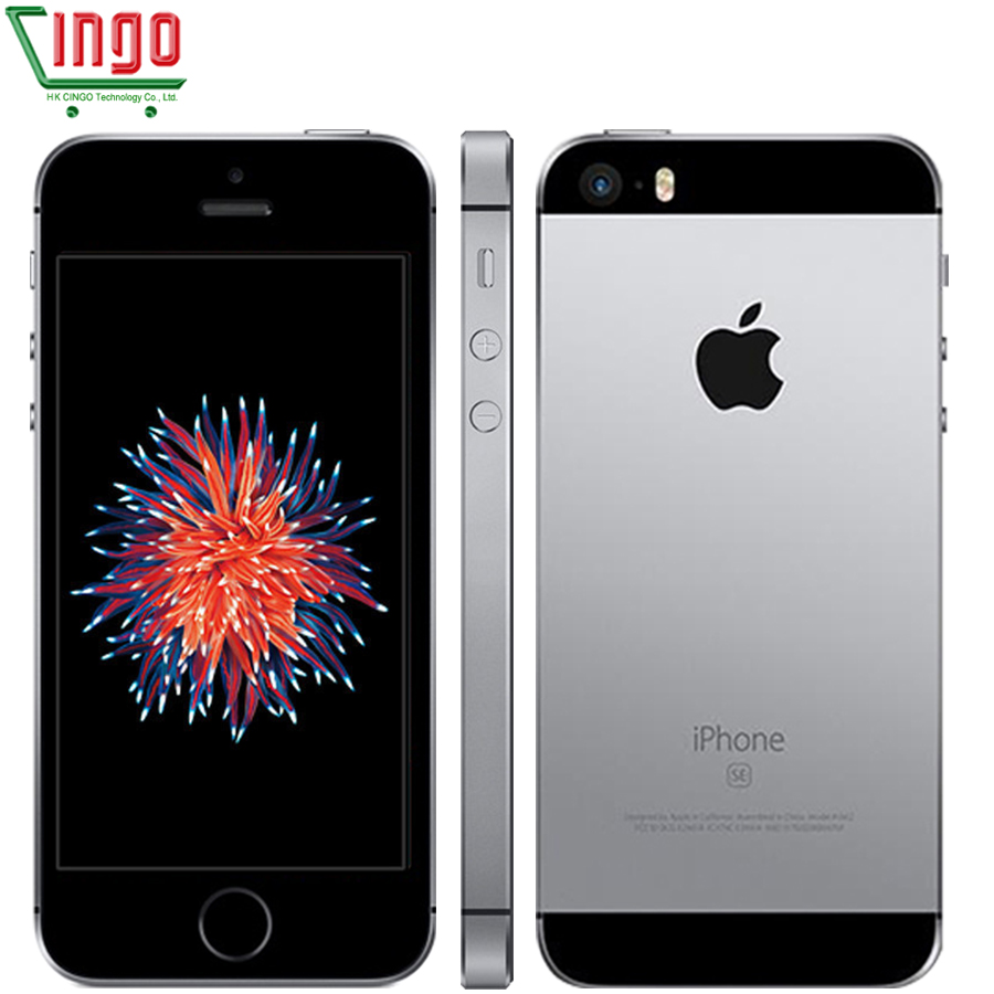 IPhone da apple SE Dual Core Telefones Celulares 12MP iOS Fingerprint ID Toque 2GB RAM 16/64GB ROM remodelado iPhone 4G LTE se