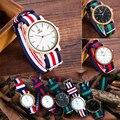 Super slim JAPÃO Movimento Quartz relógio de Pulso Casual Negócios UWOOD Marca Nylon Banda Top Amantes De Bambu de Luxo Relógio De Quartzo Personalizado