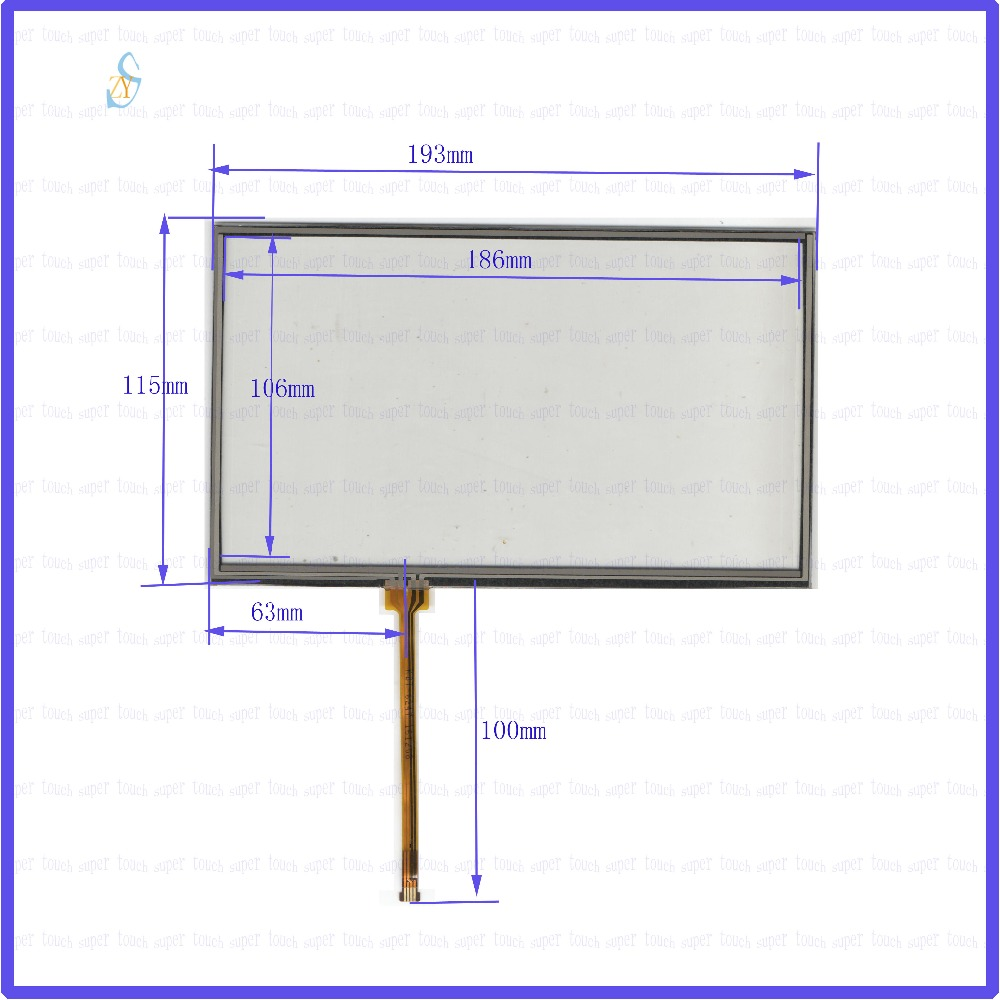 ZhiYuSun 193*115 KDT-6247  8 inch  4 wire TOUCH SCREEN width 193mm length 115mm  for gps glass  touch panel this is compatible zhiyusun for iq701 new 8 inch touch screen panel touch glass this is compatible touchsensor 124 5 173