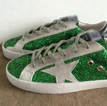 Garçons Filles Goose Superstar Casual Chaussures sport étoiles Enfants Respirer Chaussures Argent Clignotant enfants Sneakers en cuir véritable Cicishop