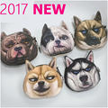 2017 New 3D Printing Wallet Pugo Dog Head  Coin Purse Animal Small cool change purse skids' creative Christmas Gift ~2