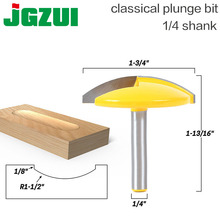 """1pc 1/4"""" Shank Small Bowl Router Bit   1.65"""" Radius   1 3/4"""" Wide For Woodworking Cutting Tool"""