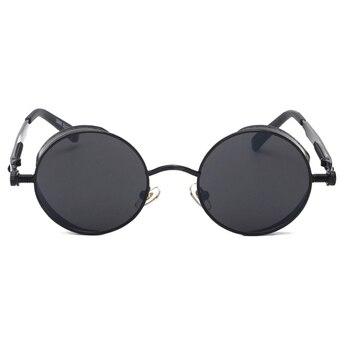 Kachawoo round steampunk sunglasses men vintage glasses steam punk sun glasses for women summer 2018 men gift UV400