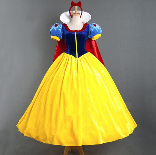 Free Shipping Party Carnival Role-playing Women Adult Halloween Cartoon Princess Snow White Costume For Sale Moderate Cost
