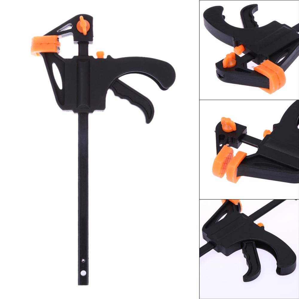 4/6/8/10/12 Inch Quick Ratchet Release Speed Squeeze Wood Working Bar F Type Clamp Fixture Grip Woodworking Clip Kit
