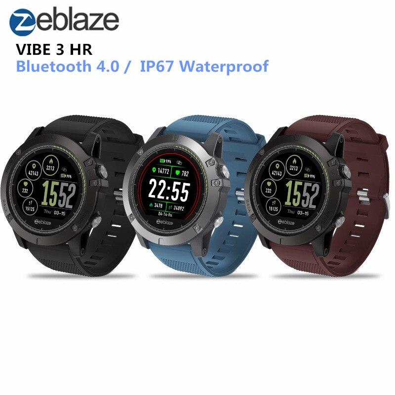 Zeblaze Vibe 3 HR Smartwatch IP67 Водонепроницаемый Носимых устройств HeartRate монитор ips Цвет Дисплей Смарт часы для Android IOS
