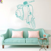 Rome Vespa Wall Sticker Living Room Bedroom Italy Rome Holiday Autobike Wall Decal Kids Room Baby
