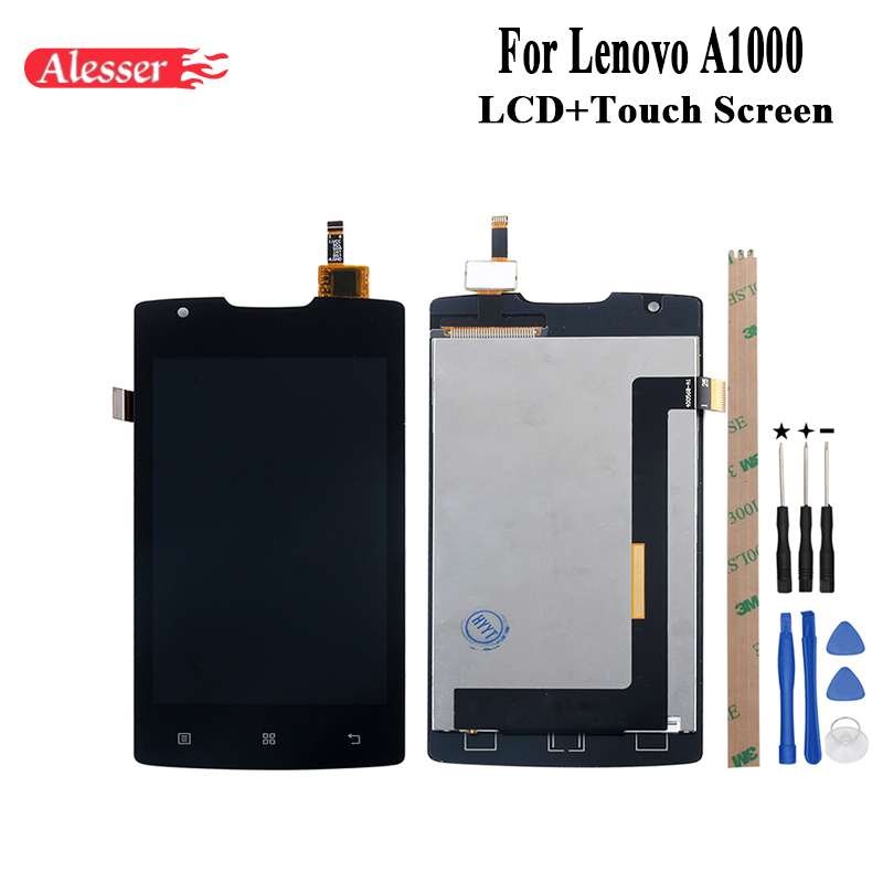 Alesser For Lenovo A1000 LCD Display and Touch Screen Assembly Repair Parts With Tools And Adhesive For Lenovo A1000 PhoneAlesser For Lenovo A1000 LCD Display and Touch Screen Assembly Repair Parts With Tools And Adhesive For Lenovo A1000 Phone