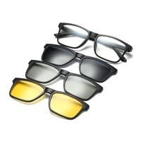 width 142 3D Eyewear Magnetic Clip Myopic Glasses Polarized Sunglasses Frames Night Vision Eyeglass Frame With Clip On Sunglasse