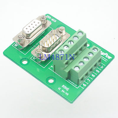 Hot Factory Direct Wholesale DB9 D-SUB VGA male female 9pin Terminal Breakout PCB Board 2 row screw adapter