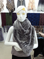 Street overweight ladies leisure wild kawaii ages Rex fur collar scarf shawl solid double