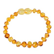 Luxury Natural Amber Pacifiers Leash Necklace Bracelet Supply Certificate Authenticity Genuine Baltic Amber Stone Baby Gift(China)