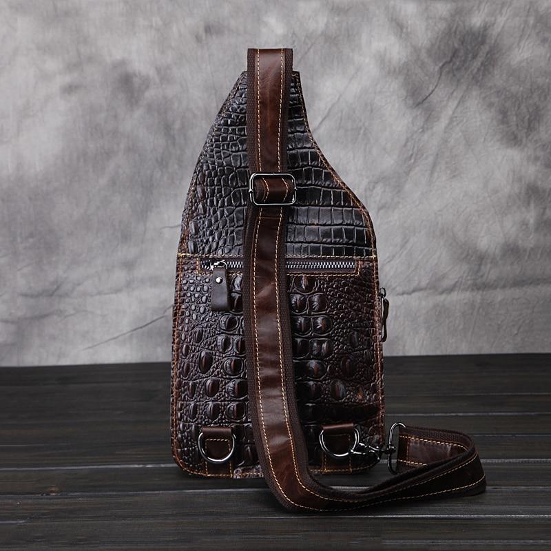 67b45ec0ea76 US $33.2 |2019 New GUSRIL Brand Design Men Vintage Chest Pack Genuine Cow  Leather Crocodile Pattern Male Messenger Bags Luxury Bags-in Crossbody Bags  ...