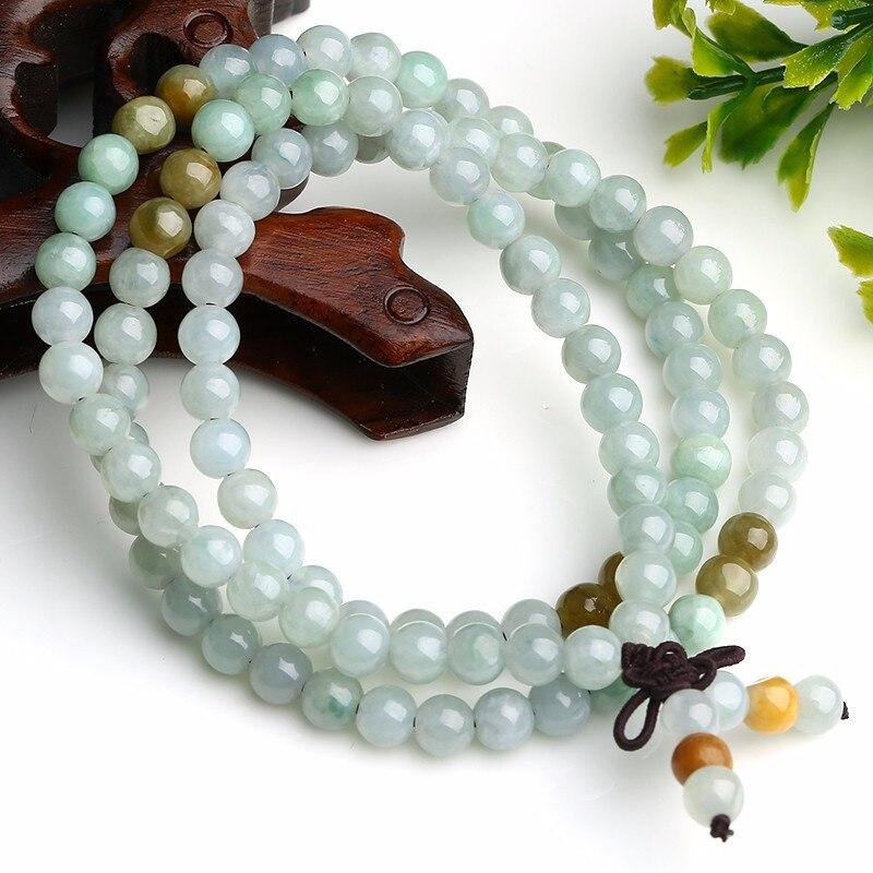 New Ethnic Handmade Weave String 100% Natural 5MM Buddha Beads Bracelet 1pcs
