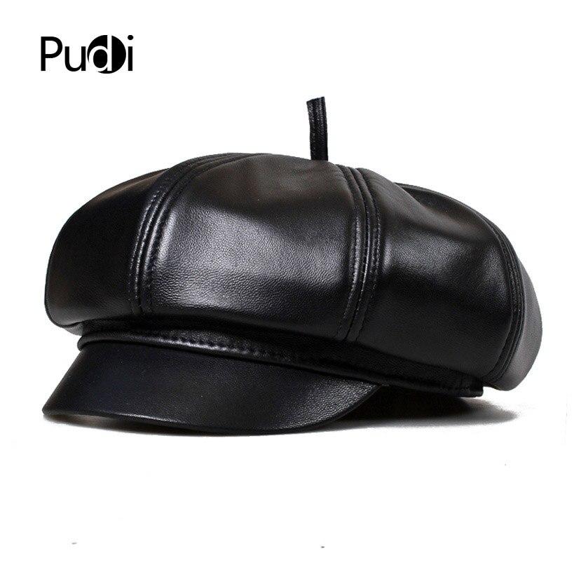 HL010 Spring Free shipping genuine leather man's Newsboy cap