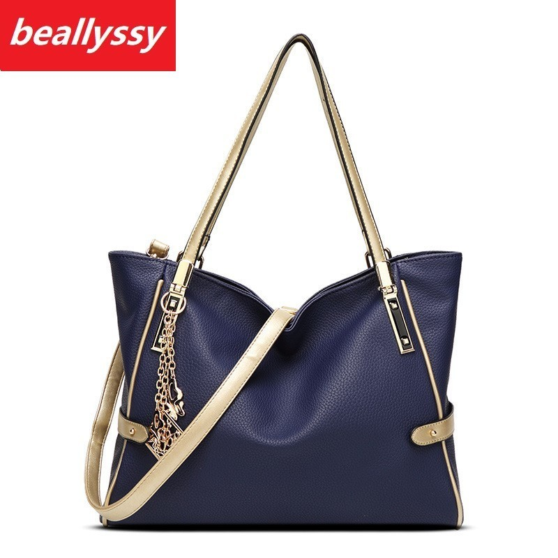Fashion PU Leather Top-handle Women Handbag Solid Ladies Lether Shoulder Bag Casual Large Capacity Tote Crossbody Bags