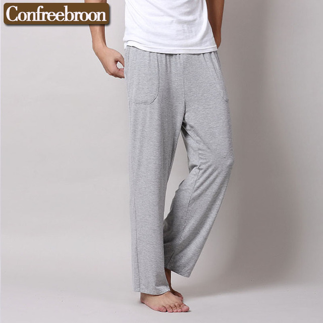 Men's Lounge Longs Pants Soft Modal Comfortable Thin Sleep Bottoms Hombre's Loose Casual Pajamas Suit For The Four Seasons M815