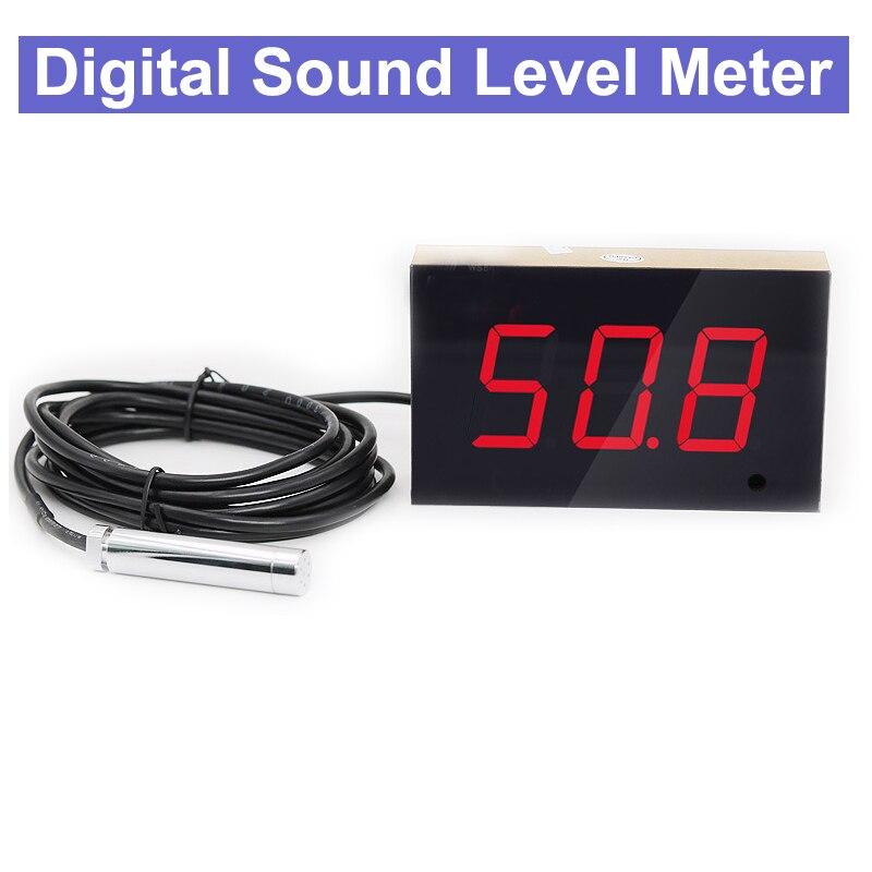 Mûr Numérique Sonomètre 30 ~ 130dB Numérique Decibel Meter bruit mesure pour Bar Intérieur/bureau/ accueil/hôtel